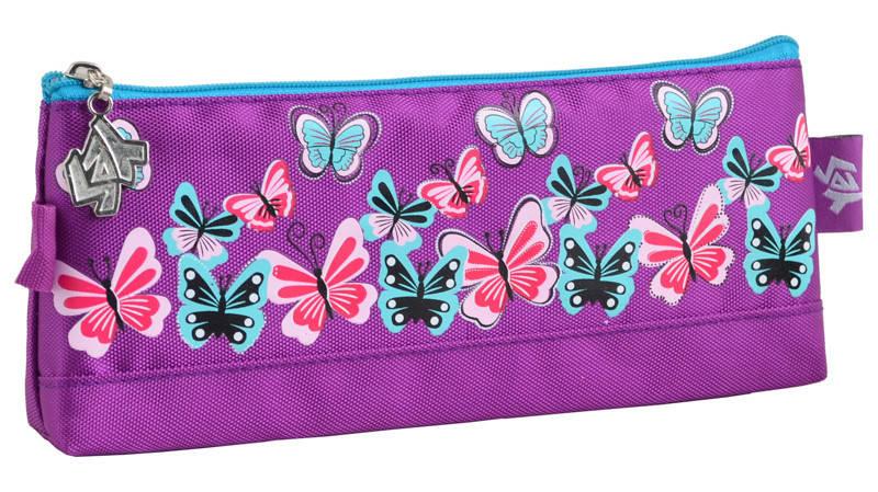 Пенал мягкий Yes 1 отд. Butterfly purple 531820, фото 2
