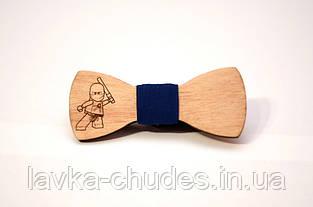 Детская деревянная галстук - бабочка ниньзяго