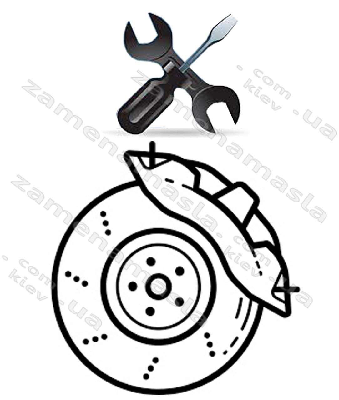 Замена тормозных колодок(дисковых)