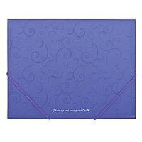 Папка А5 на резинках BAROCCO фиолетовый