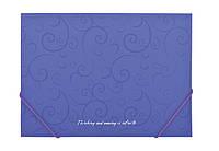 Папка на резинках Buromaxt А4 BAROCCO фиолетовый BM.3914-07
