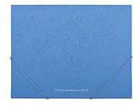 Папка на резинках Buromaxt А4 BAROCCO голубой BM.3914-14