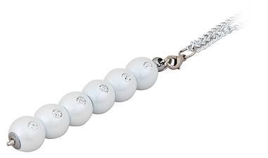 Ручка шариковая Secret с кристаллами белый в подарочном футляре