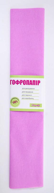 Бумага гофр. св.-сирен. 110%  (50смX200см)