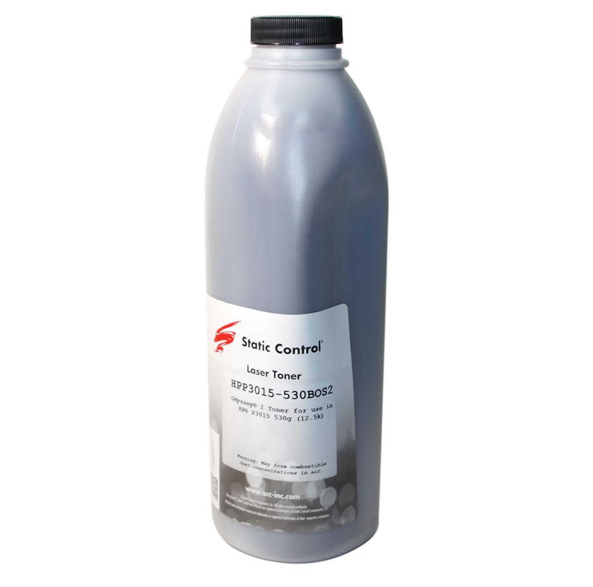 Тонер HP LJ P3015, 530 г, Static Control (HPP3015-530BOS2)