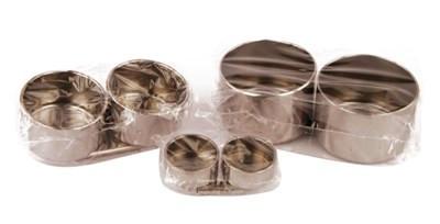Маслёнка двойная металлическая d:5см 10.1х3см D.K.ART & CRAFT