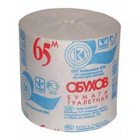 Бумага туалетная Обухов 65 макулатурная серый тп.об65с