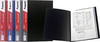 Папка с файлами Axent А4 дисплей-книга 10 файлов бордовая 1010-04-А