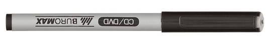 Маркер водостойкий Jobmax чёрный 0.6мм тонкопишущий, фото 2