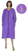 """NEW! Оригинальные женские махровые халаты размеров """"батал"""" с вышивкой - Mariya Batal Violette ТМ УКРТРИКОТАЖ!"""
