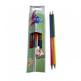 Олівці кольорові двосторонні Marco HB 12 штук 24 кольору з пензлем 9101-12СВ