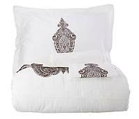Комплект постельного белья  Karaca Home Privat сатин Alessia Kahve
