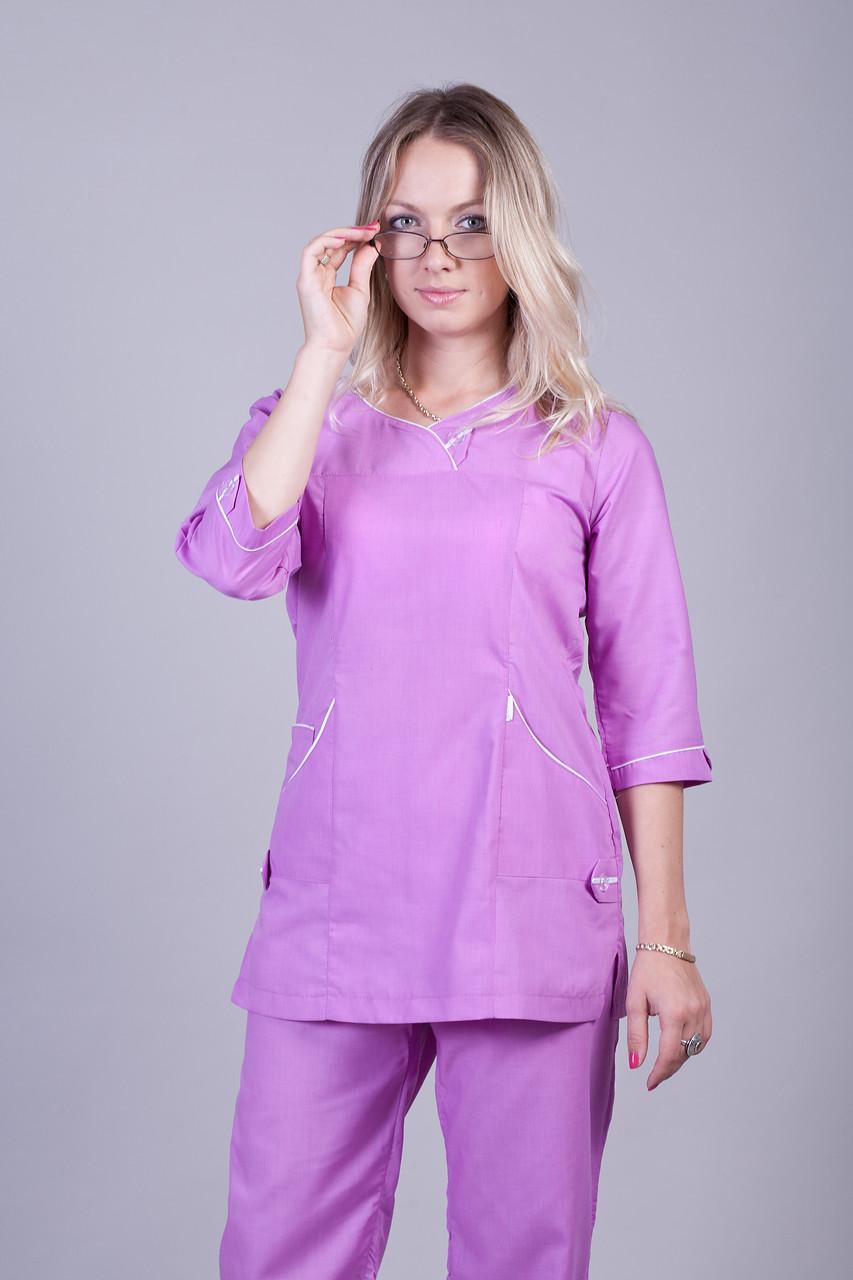 Женский медицинский костюм сирень купить недорого 42-60