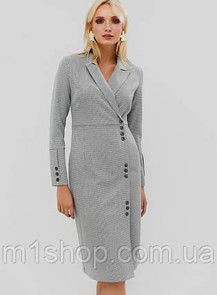 Деловое приталенное платье серого цвета (Demar crd), фото 2