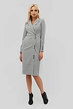 Деловое приталенное платье серого цвета (Demar crd), фото 3