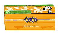 Мел белый ZiBi для школьной доски 60 шт. ZB.6713-12