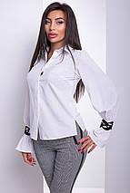 Женская рубашка с красивыми узорными манжетами (Аллегро lzn), фото 3