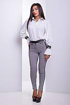 Женская рубашка с красивыми узорными манжетами (Аллегро lzn), фото 2