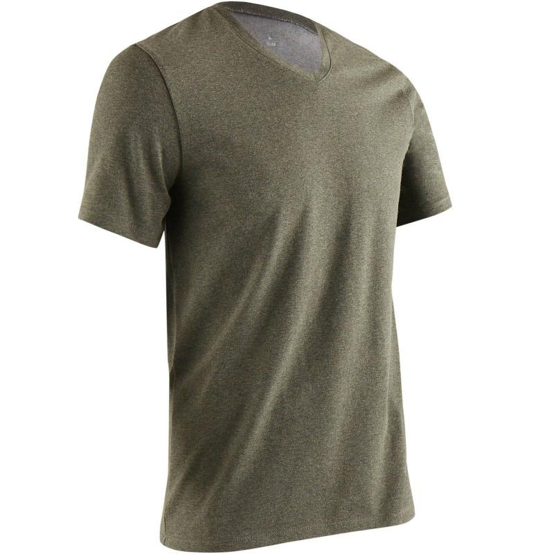 Koszulka krótki rękaw Slim Gym & Pilates 500 męska
