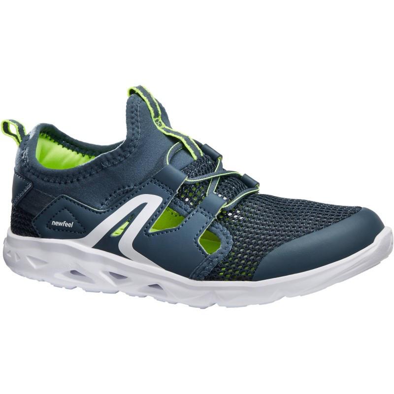 Buty dziecięce do szybkiego marszu PW 500 Fresh w kolorze szaro-zielonym