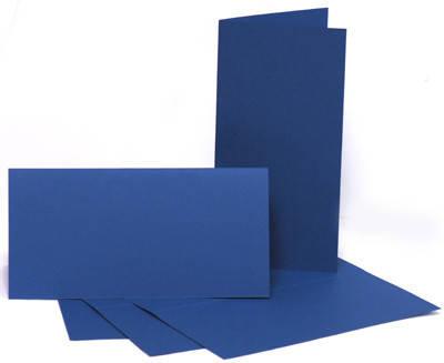 Набор заготовок для открыток 5шт 10.5х21см №4 тёмно-синий 220г/м2, фото 2