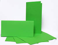 Набор заготовок для открыток 5шт.10.5х21см №3 салатовый 220г/м2
