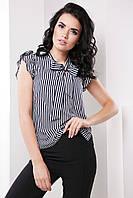 Элегантная деловая женская блуза с воротником бант 7061/2, фото 1