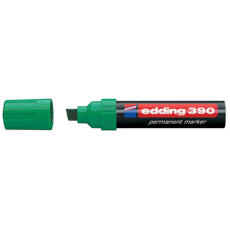 Маркер перманентный Permanent Edding 4-12 мм клинообразный зеленый e-390/04