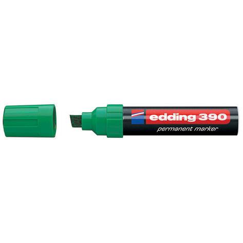 Маркер перманентный Permanent Edding 4-12 мм клинообразный зеленый e-390/04, фото 2