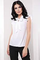 Елегантна ділова жіноча блузка з коміром бант 7061/3, фото 1
