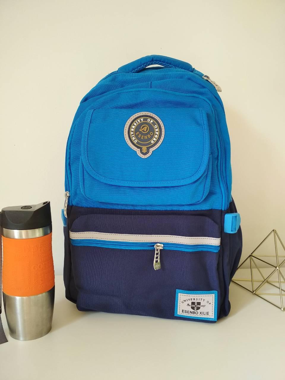 Стильный школьный ранец с уплотненной спинкой Esenbo 45*30*18 см