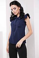 Элегантная деловая женская блуза с воротником бант 7061/4, фото 1