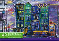 Альбом для рисования ZiBi A4 40л 100г/м2 скоба ZB.1442