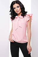 Элегантная деловая женская блуза с воротником бант 7061/6, фото 1