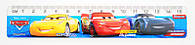 Линейка 15см 1 Вересня Cars пластик 370424