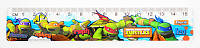 Линейка 15см 1 Вересня Ninja Turtles пластик 370426