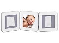 Рамка для фото Baby Art Double Print Frame white&grey