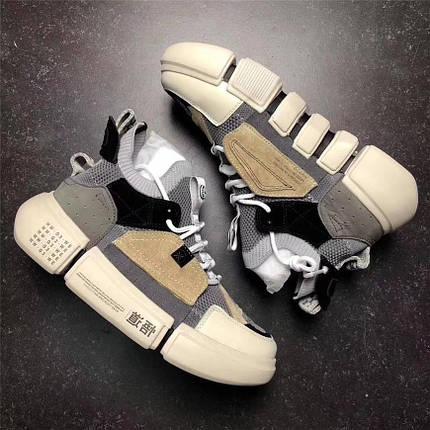 Кроссовки Унисекс Li-Ning OFF White Grey/White/Brown, фото 2