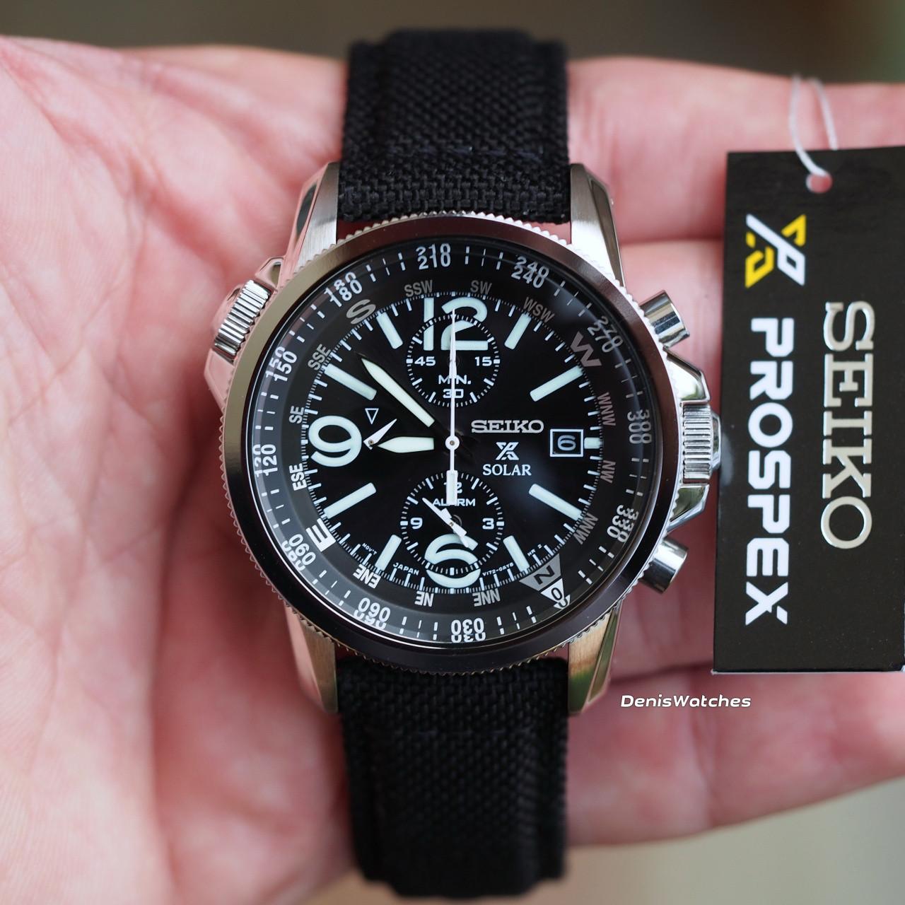Часы Seiko SSC293P2 хронограф SOLAR V172