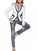Универсальный пиджак - жакет черно- белый, 46, 48, 50