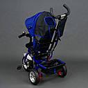 """Детский трехколесный велосипед """"Best Trike 6588"""" сине-черный, фото 4"""