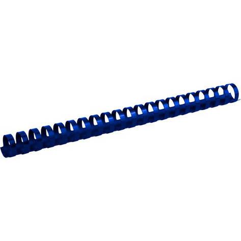 Пружины для брошуровщика Axent пластик d 22 мм синяя 50 шт 2922-02-A, фото 2