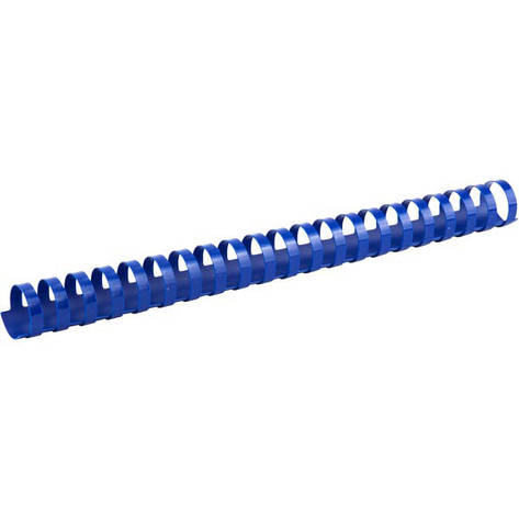 Пружины для брошуровщика Axent пластик d 25 мм синяя 50 шт 2925-02-A, фото 2