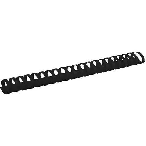 Пружины для брошуровщика Axent пластик d 38 мм черная 50 шт 2938-01-A, фото 2