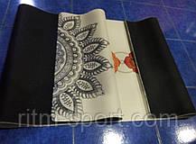 Йога мат двухслойный с рисунком Джутовый (лен, каучук), фото 2