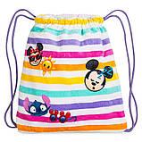 Детское махровое полотенце Дисней Эмоджи с сумочкой, фото 2