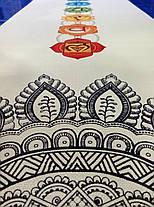 Йога мат двухслойный с рисунком Джутовый (лен, каучук), фото 3
