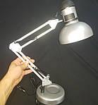 Настольная лампа серебристый металик