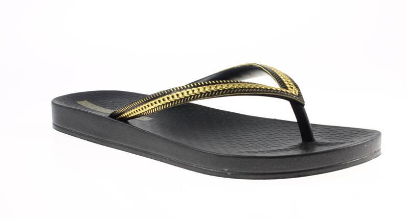 Оригинал Вьетнамки женские 82021-23480 Ipanema Ana Metalic Black/Black/Gold, фото 2