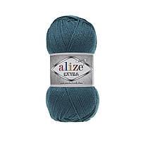 Пряжа для ручного и машинного  вязания Alize EXTRA (Экстра) акрил  212 петроль